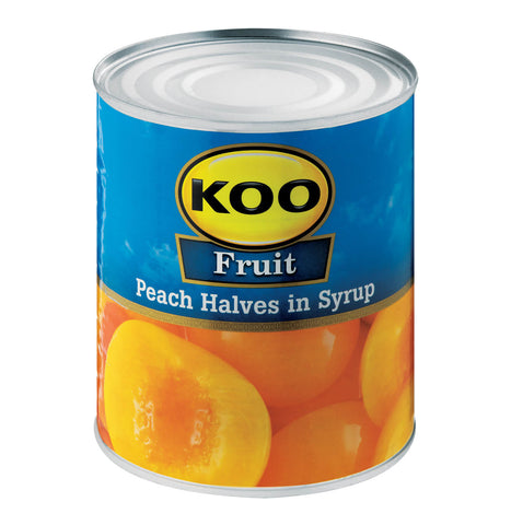 Koo Peach Halves in Syrup (CASE of 12 x 410g)