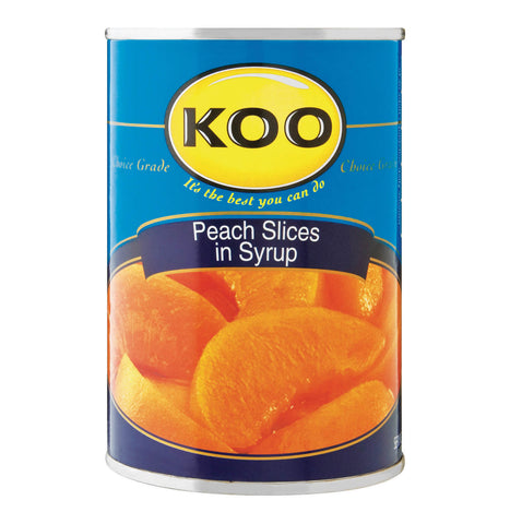 Koo Peach Slices in Syrup (Kosher) (CASE of 12 x 410g)