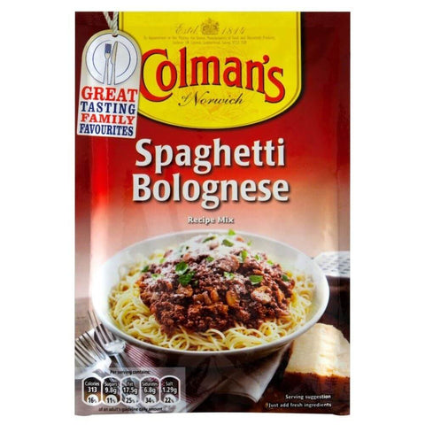 Colmans Seasoning Mix - Spaghetti Bolognese (CASE of 16 x 44g)