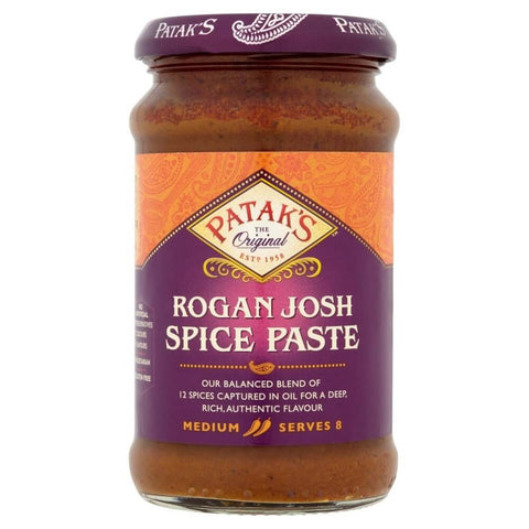 Pataks Curry Paste -  Rogan Josh Medium  (CASE of 6 x 283g)