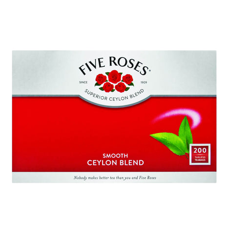Five Roses Tea - Tagless Tea Bags (Pack of 200 Bags) (CASE of 8 x 500g)