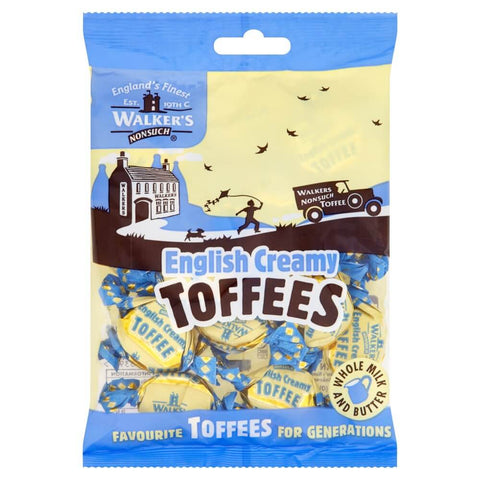 Walkers Toffee - English Creamy Bag  (CASE of 12 x 150g)
