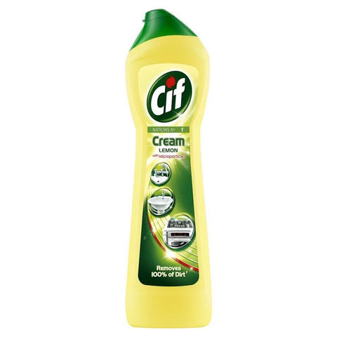 Cif Cream Cleaner - with Lemon (CASE of 8 x 500ml)
