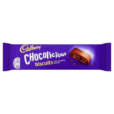 Cadbury Chocolicious Dairy Milk Biscuits (CASE of 12 x 110g)