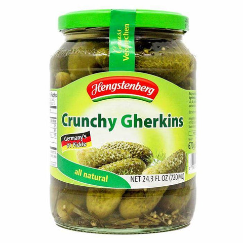 Hengstenberg Crunchy Gherkins Savory and Mildly Spiced (CASE of 12 x 720ml)
