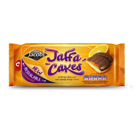 Jacobs Jaffa Cakes in a Resealable Stayfresh Pack (CASE of 24 x 147g)