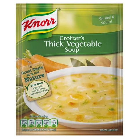Knorr Soup - Crofters Thick Vegetable  (CASE of 9 x 75g)