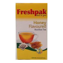 Freshpak Rooibos Tea - Sweet Honey Tea Bags (Pack of 20 Bags) (CASE of 6 x 50g)