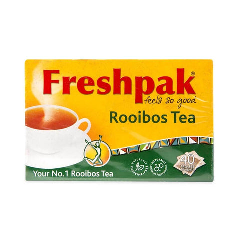 Freshpak Rooibos Tea - Tagless Tea Bags (Pack of 40 Bags) (CASE of 6 x 100g)