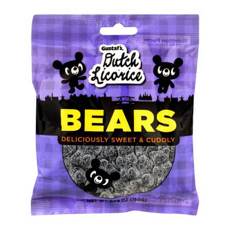 Gustafs Sugared Licorice Bears (CASE of 12 x 150g)