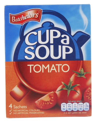 Batchelors Cup a Soup - Tomato Flavour (Pack of 4) (CASE of 9 x 93g)