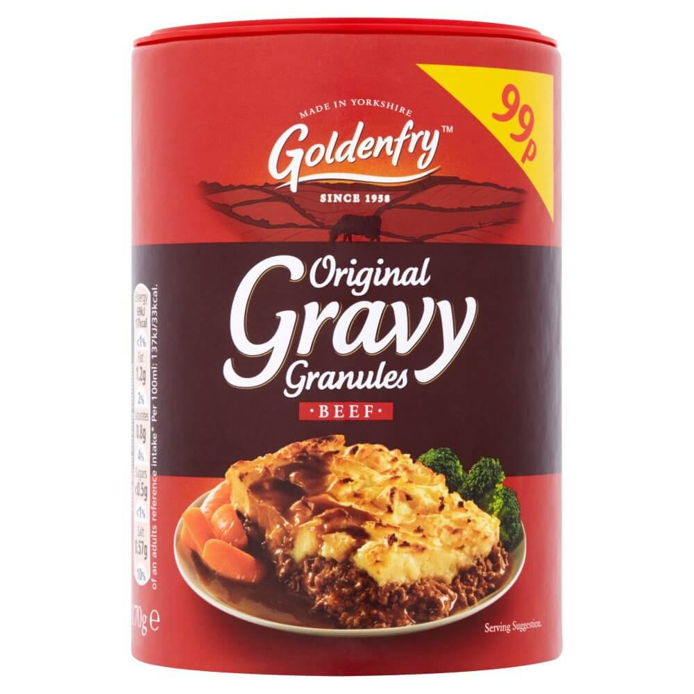Goldenfry  Gravy Granules -Smooth and Rich for Beef (CASE of 6 x 170g)