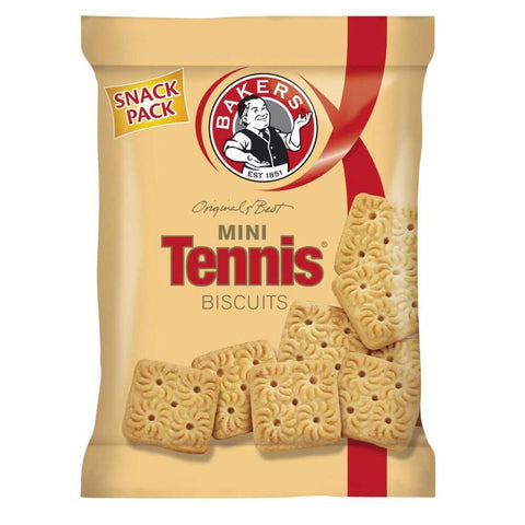 Bakers Tennis Mini Biscuit Bag (Kosher) (CASE of 24 x 40g)