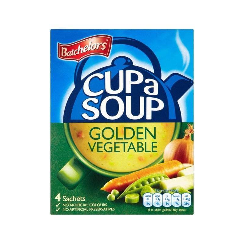 Batchelors Cup a Soup Golden Vegetable (Pack of 4) (CASE of 9 x 82g)