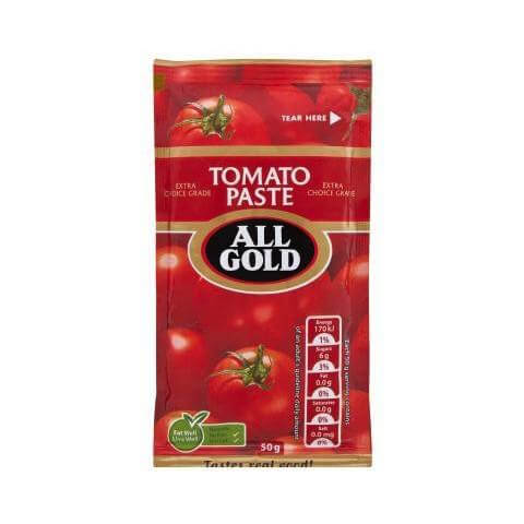 All Gold Tomato Paste - Small Sachet (Kosher) (CASE of 30 x 50g)