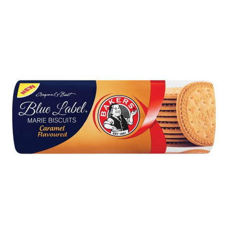 Bakers Blue Label Caramel Marie Biscuits (Kosher) (CASE of 12 x 200g)