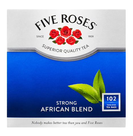 Five Roses Tea - African Blend Strong Tea Bags (Pack of 102 Bags) (CASE of 6 x 250g)