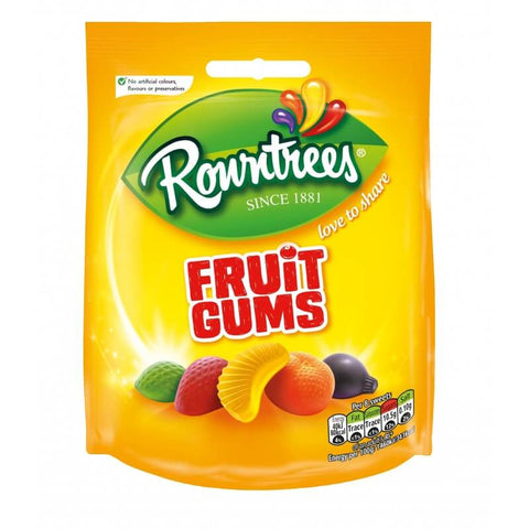 Rowntrees Fruit Gum - Pouch (CASE of 10 x 150g)