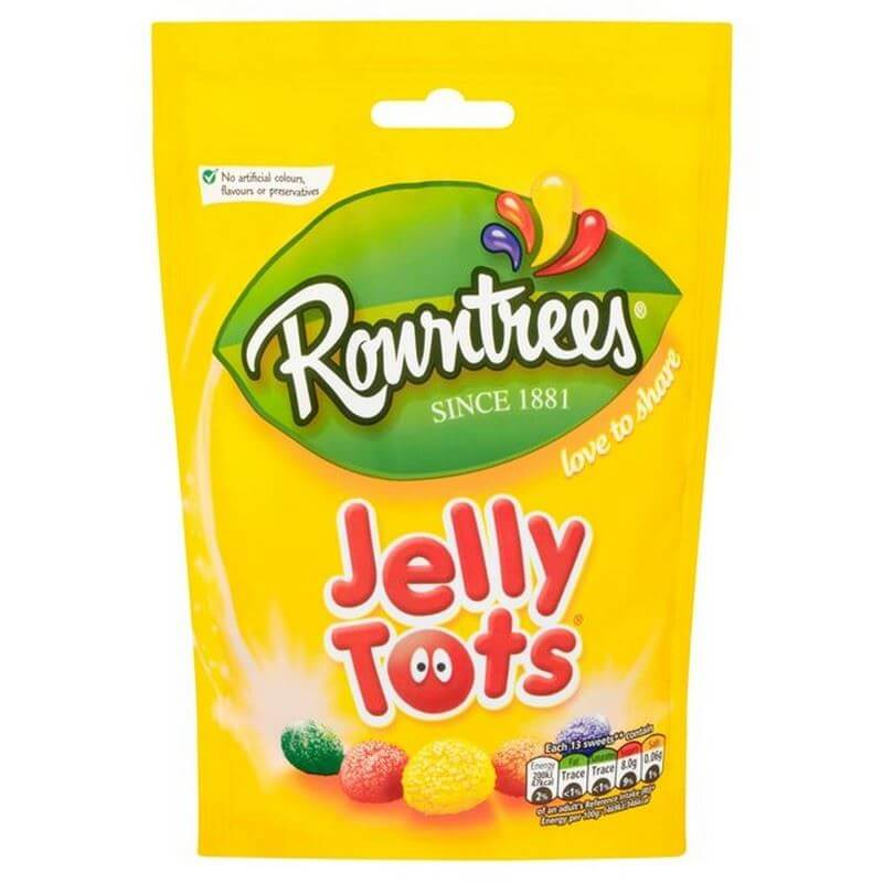 Rowntrees Jelly Tots - Sharing Pouch (CASE of 10 x 150g)