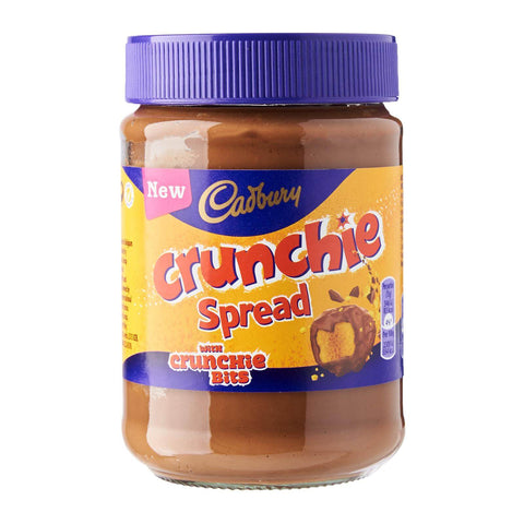 Cadbury  Crunchie - Spread with Real Crunchie Bits (CASE of 6 x 400g)