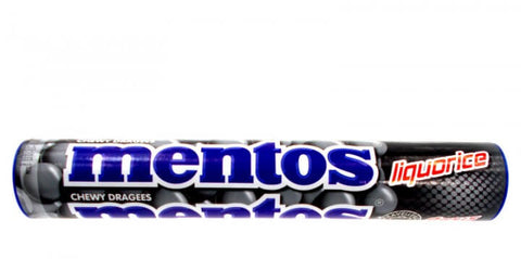 Mentos Licorice Chewy Candies (CASE of 40 x 37.5g)