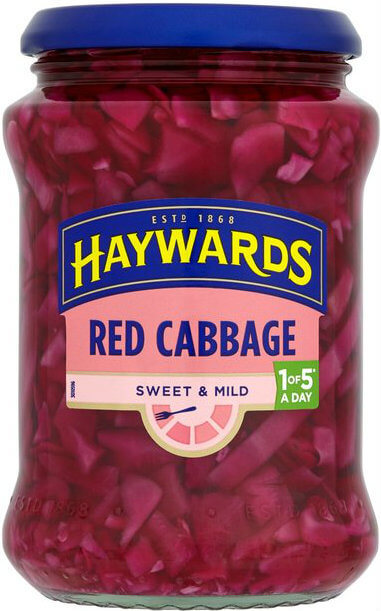 Haywards Cabbage - Red Sweet and Mild (CASE of 6 x 400g)