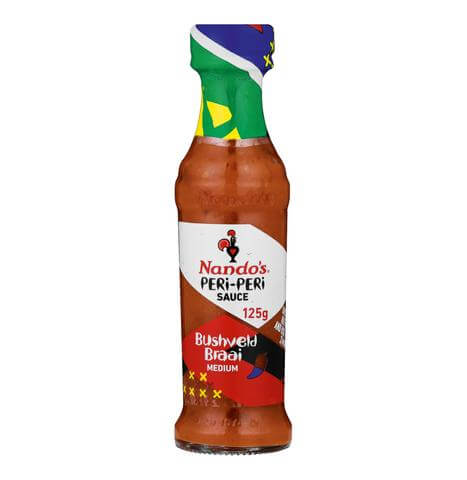 Nandos Peri Peri Sauce - Bushveld Braai Small Bottle (Kosher) (CASE of 6 x 125g)