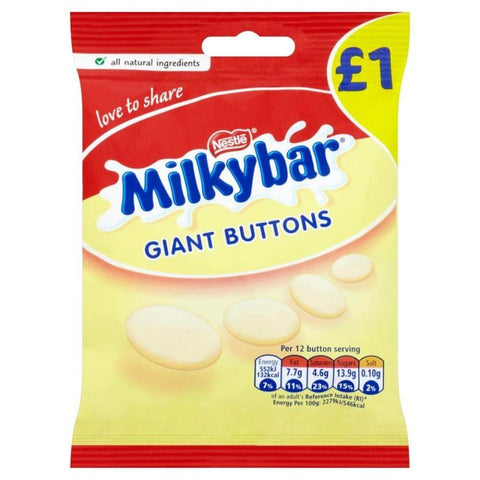 Nestle Milkybar - Giant Buttons Pouch (CASE of 12 x 85g)
