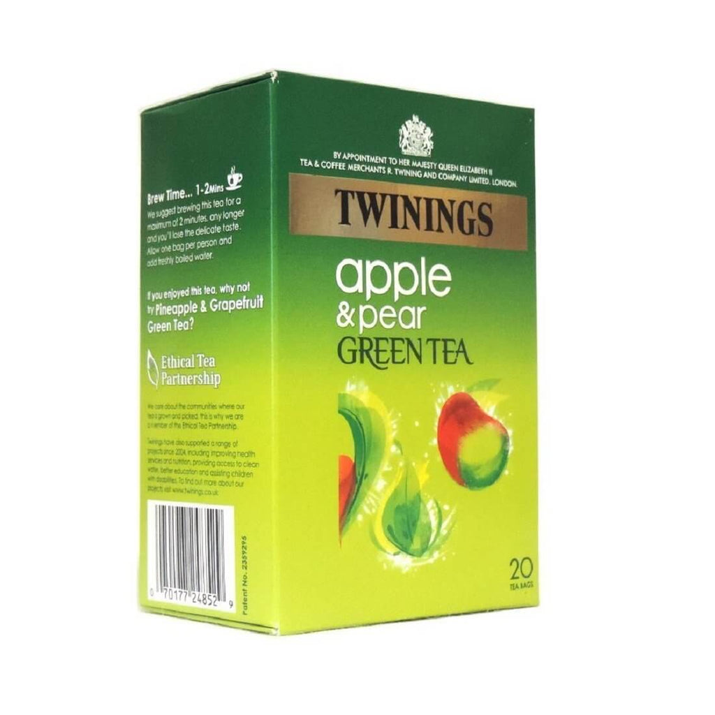 Twinings Tea - Apple and Pear Green Tea (Pack of 20 Tea Bags) (CASE of 4 x 40g)