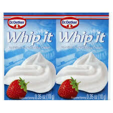 Dr Oetker Whip It Stabilizer for Whipping Cream (Pack of 2) (CASE of 30 x 20g)