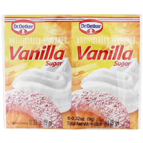 Dr Oetker Artificially Flavoured Vanilla Sugar (Pack of 6) (CASE of 12 x 54g)
