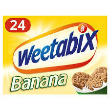 Weetabix Cereal - Banana Flavour (Pack of 24 Biscuits) (CASE of 10 x 508g)