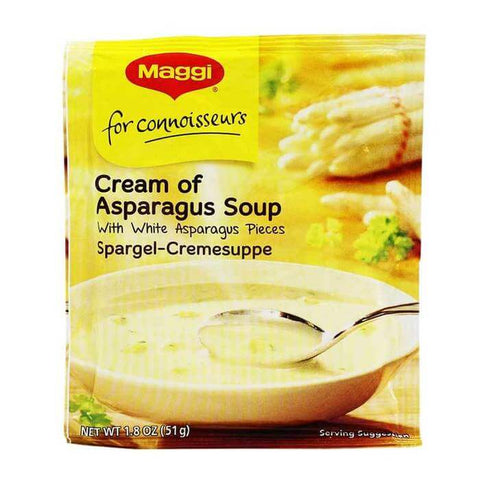 Maggi for Connoisseurs Cream of Asparagus Soup with White Asparagus Pieces (CASE of 14 x 51g)