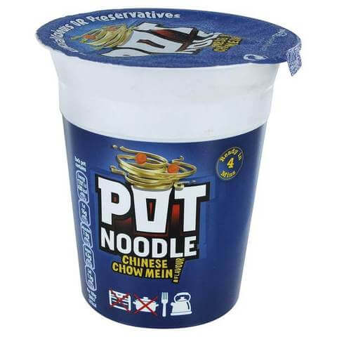 Pot Noodle - Chinese Chow Mein (CASE of 12 x 90g)