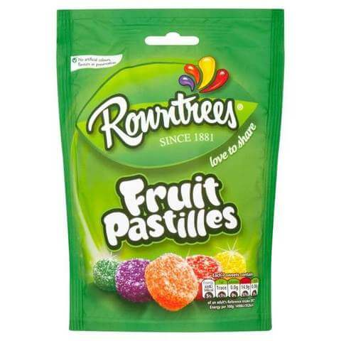 Rowntrees Fruit Pastilles - Pouch (CASE of 10 x 150g)