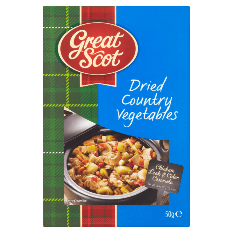 Great Scot Dried Country Vegetables (CASE of 12 x 50g)
