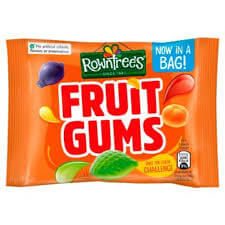 Rowntrees Fruit Gum - Small Bag (CASE of 24 x 43.5g)