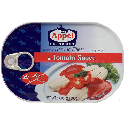 Appel Herring Fillets in Tomato Sauce (CASE of 10 x 200g)