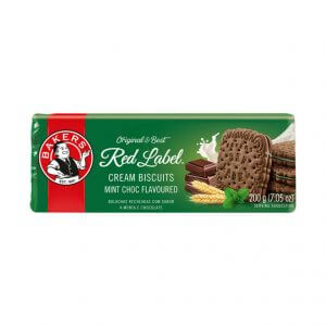 Bakers Mint Creams - Red Label Biscuits (Kosher) (CASE of 12 x 200g)