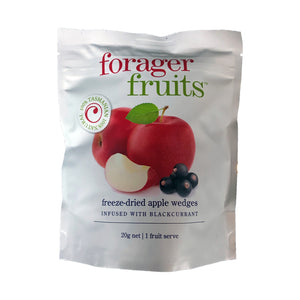 Forager Fruits Freeze Dried Apple Wedges Infused With Blackcurrant 20g