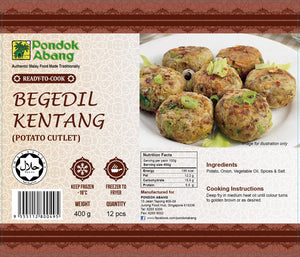 Potato Cutlets 12pcs (Begedil Kentang) 300g