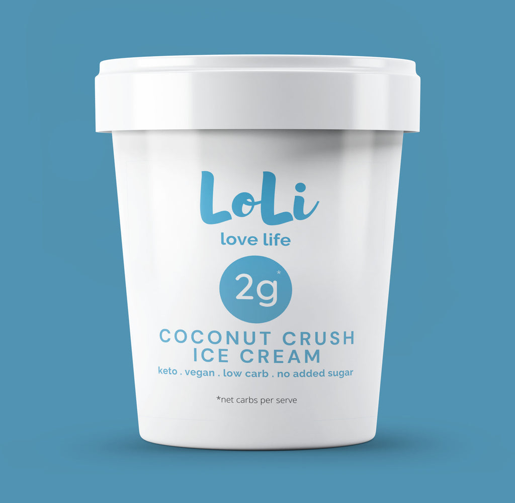 Keto Ice Cream Coconut Crush 470ml
