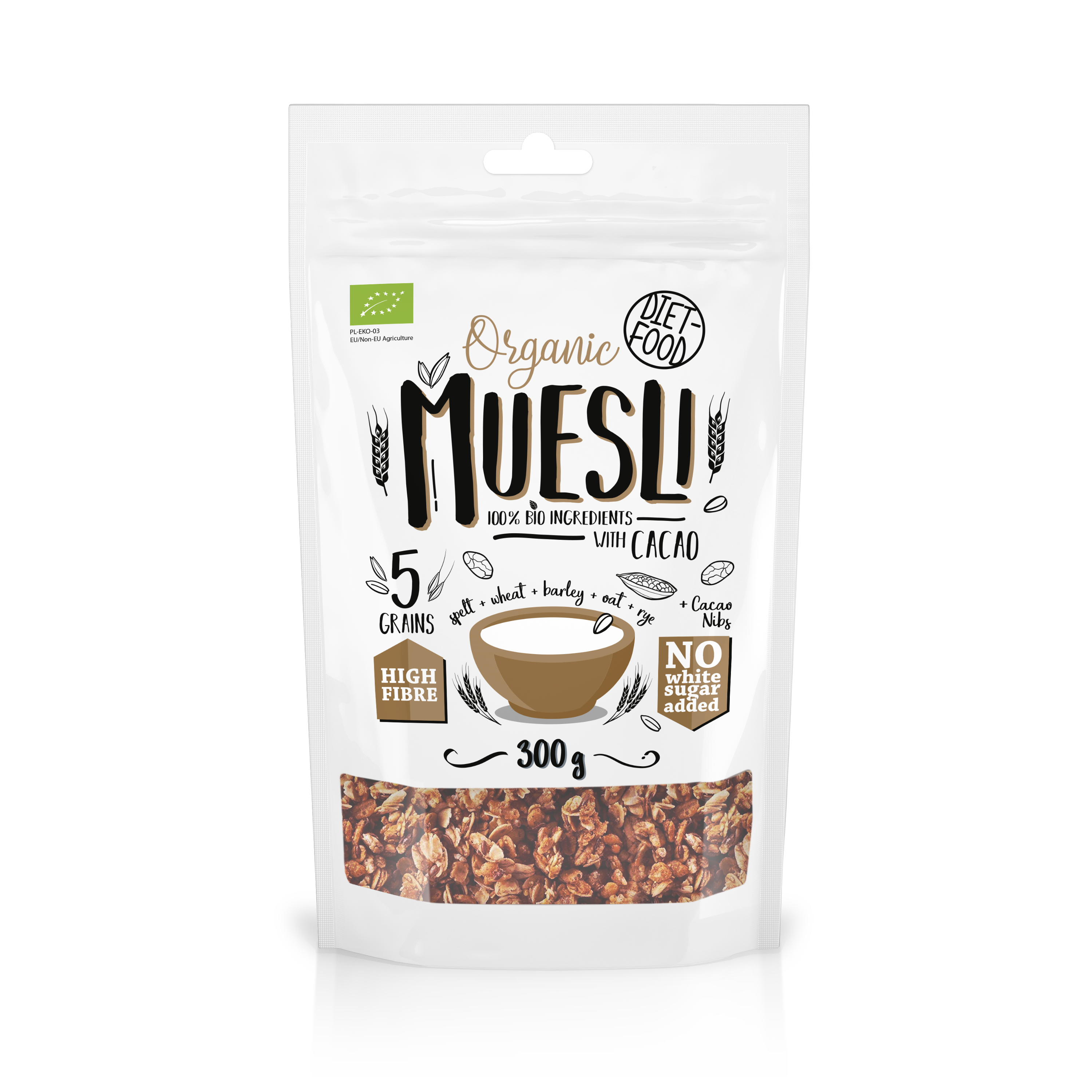 Bio Muesli Crunchy With Cacao (Baked) 200g