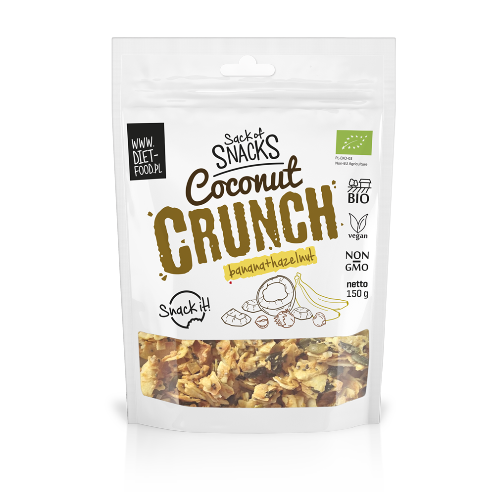 Bio Coconut Crunch With Banana And Hazelnut 150g