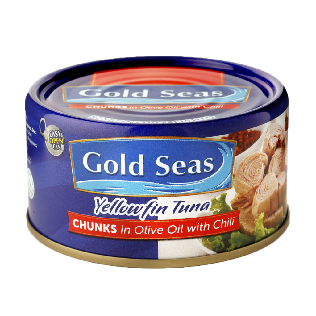 Yellowfin Tuna Chunks in Olive Oil with Chili 185g