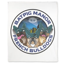 "Load image into Gallery viewer, BatPig Manor 50"" X 60"" Premium Fleece Blanket"
