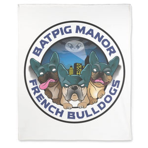 "BatPig Manor 50"" X 60"" Premium Fleece Blanket"