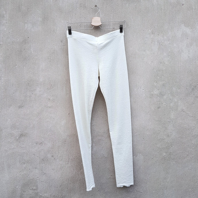 Leggings i merinoull, Raw White