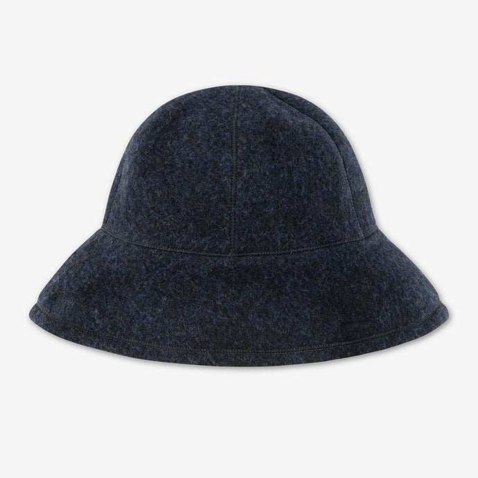 Bucket hat - borstad ull - Midnight Blue Melange