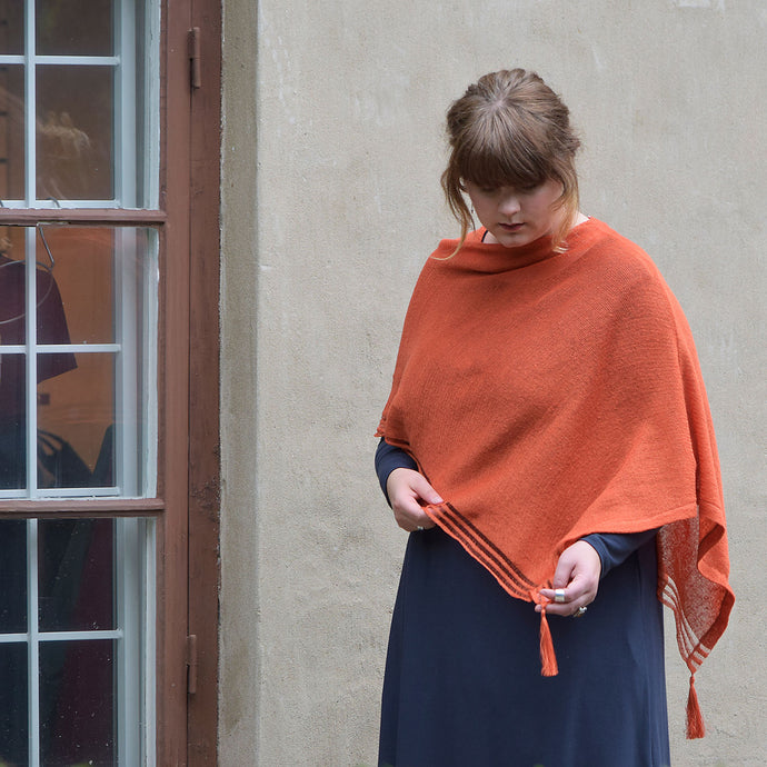 Linneponcho, orange